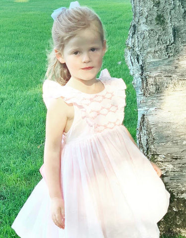 happy client pale pink netti smocked dress french style charlotte sy dimby