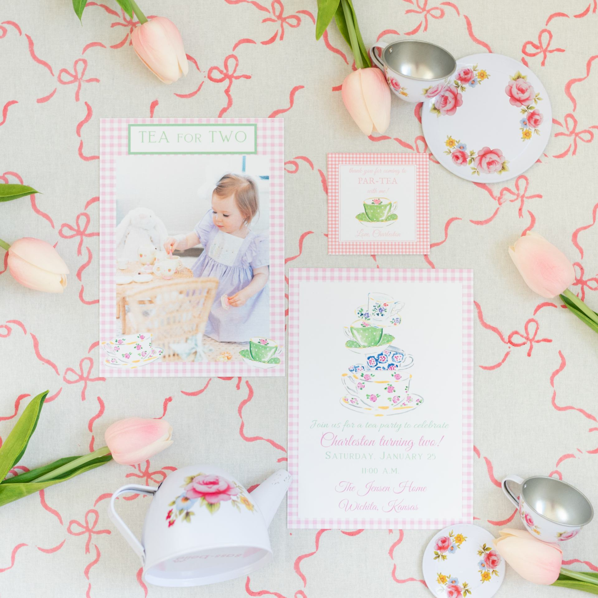 Little girl's birthday party inspiration - custom made invitation cards - The Brooke Brooke Charlotte sy Dimby