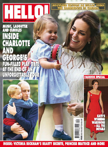Princess Charlotte wearing a smocked dress made in the Charlotte sy Dimby atelier