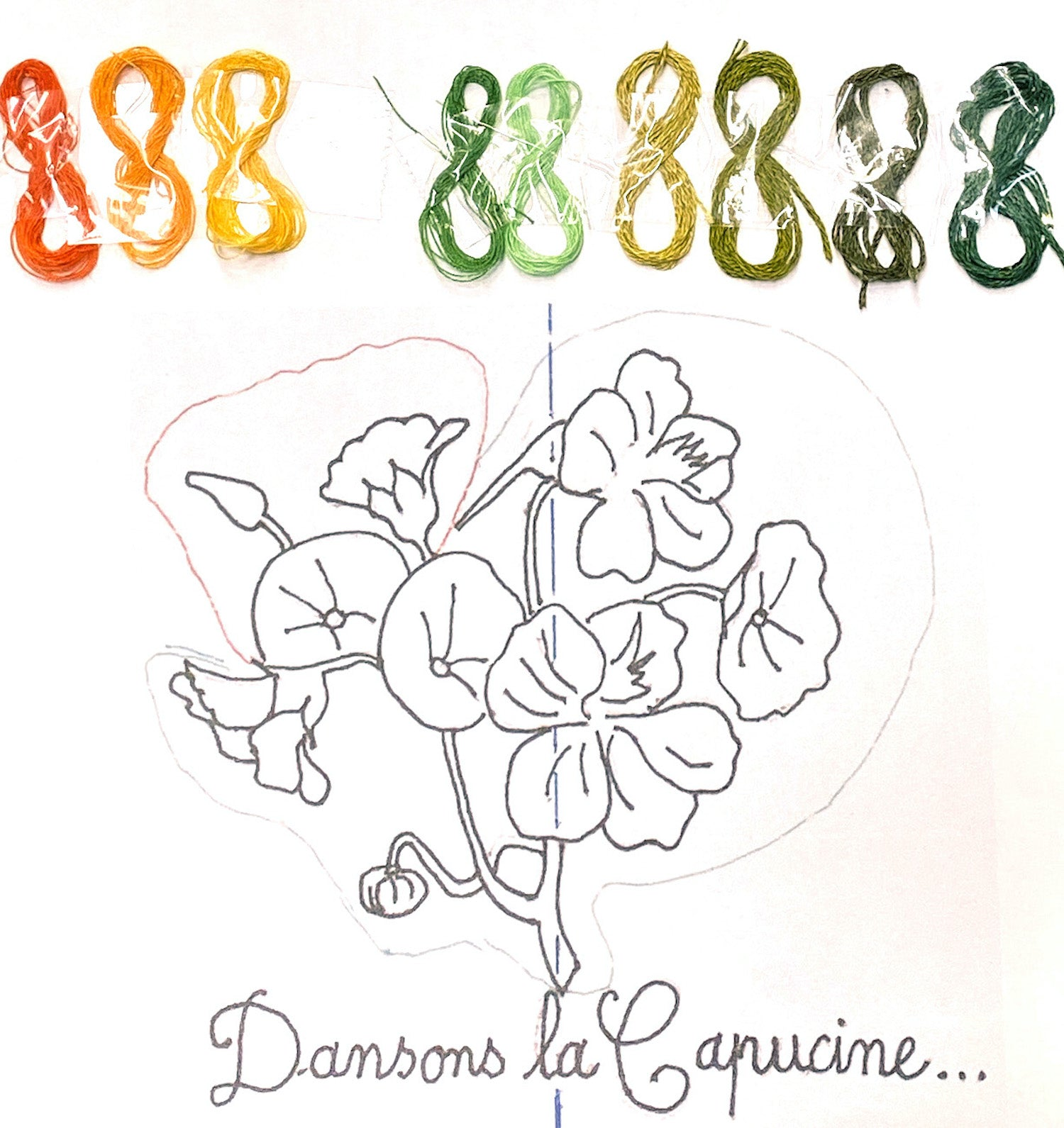 Flower embroidery design, the story of our brand and know-how, the Charlotte sy Dimby design process