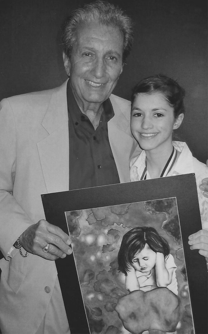 An artist and her father