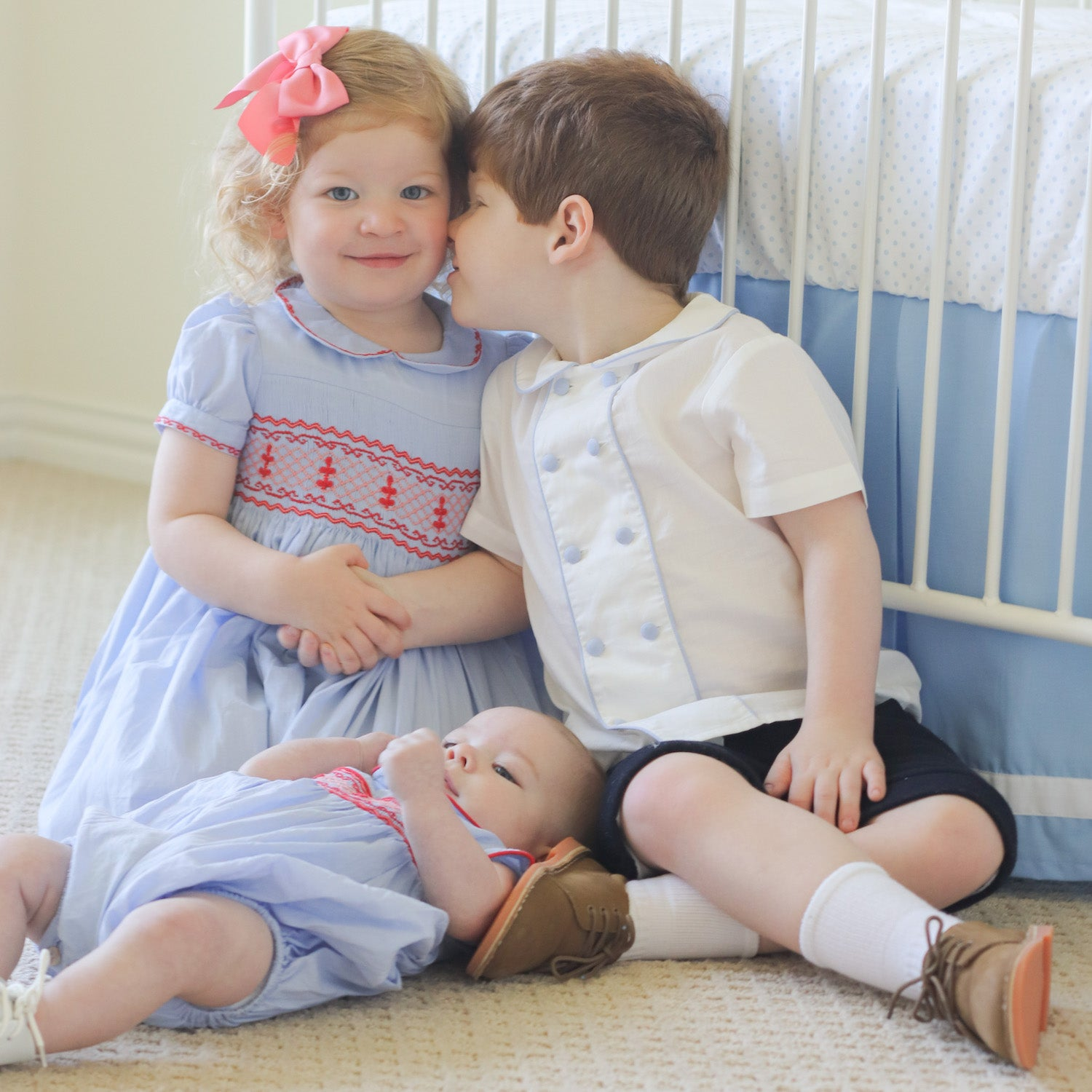 Royal family inspired matching sibling outfits