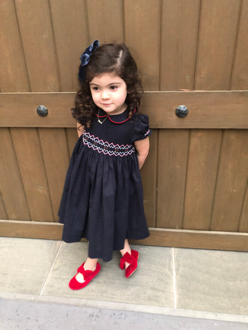 """Such a beautiful dress! xx"" Thank you Selby Colette for picking our handmade Cerise smocked dress for Christmas!"