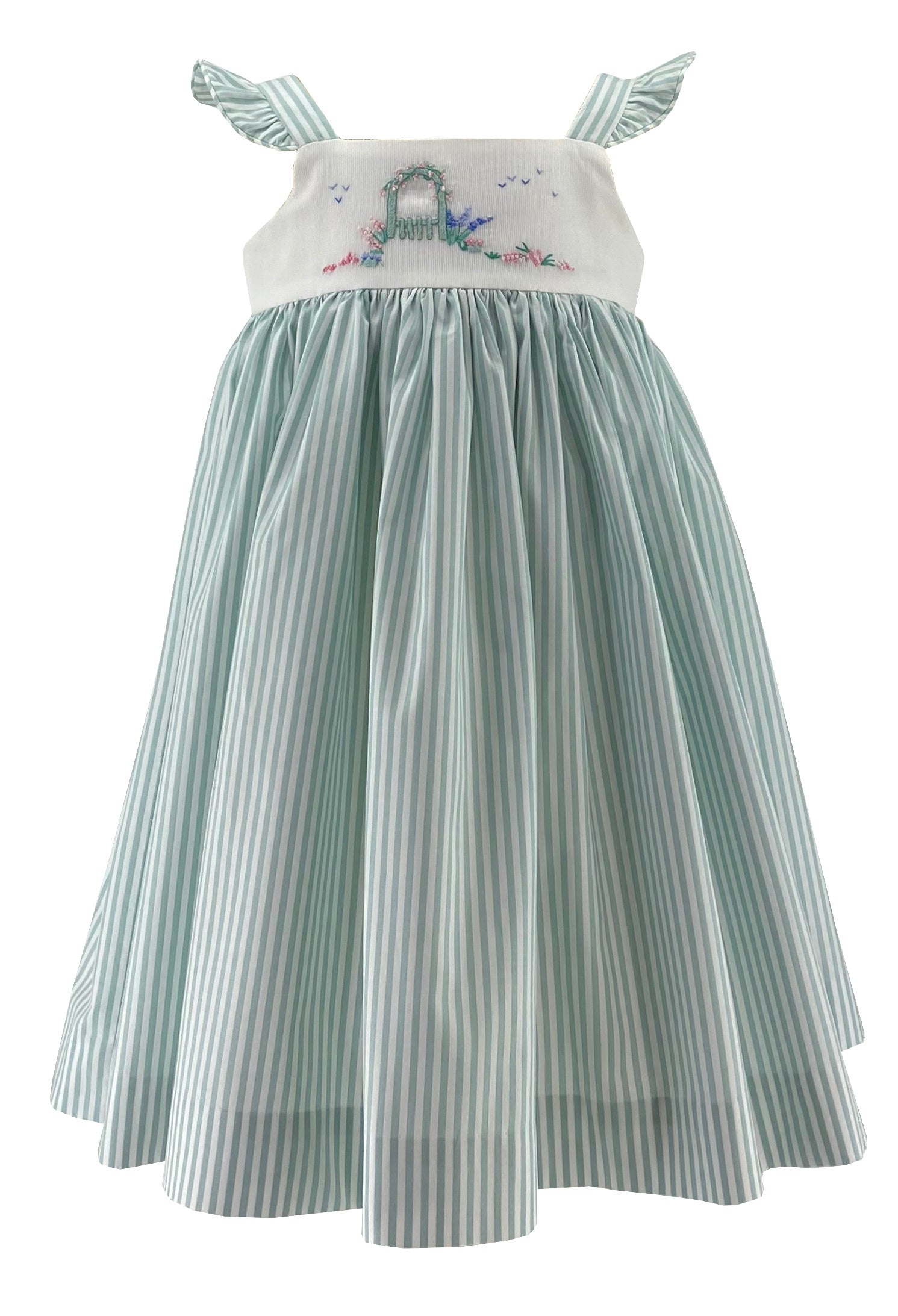 Summer stripes arbor dress