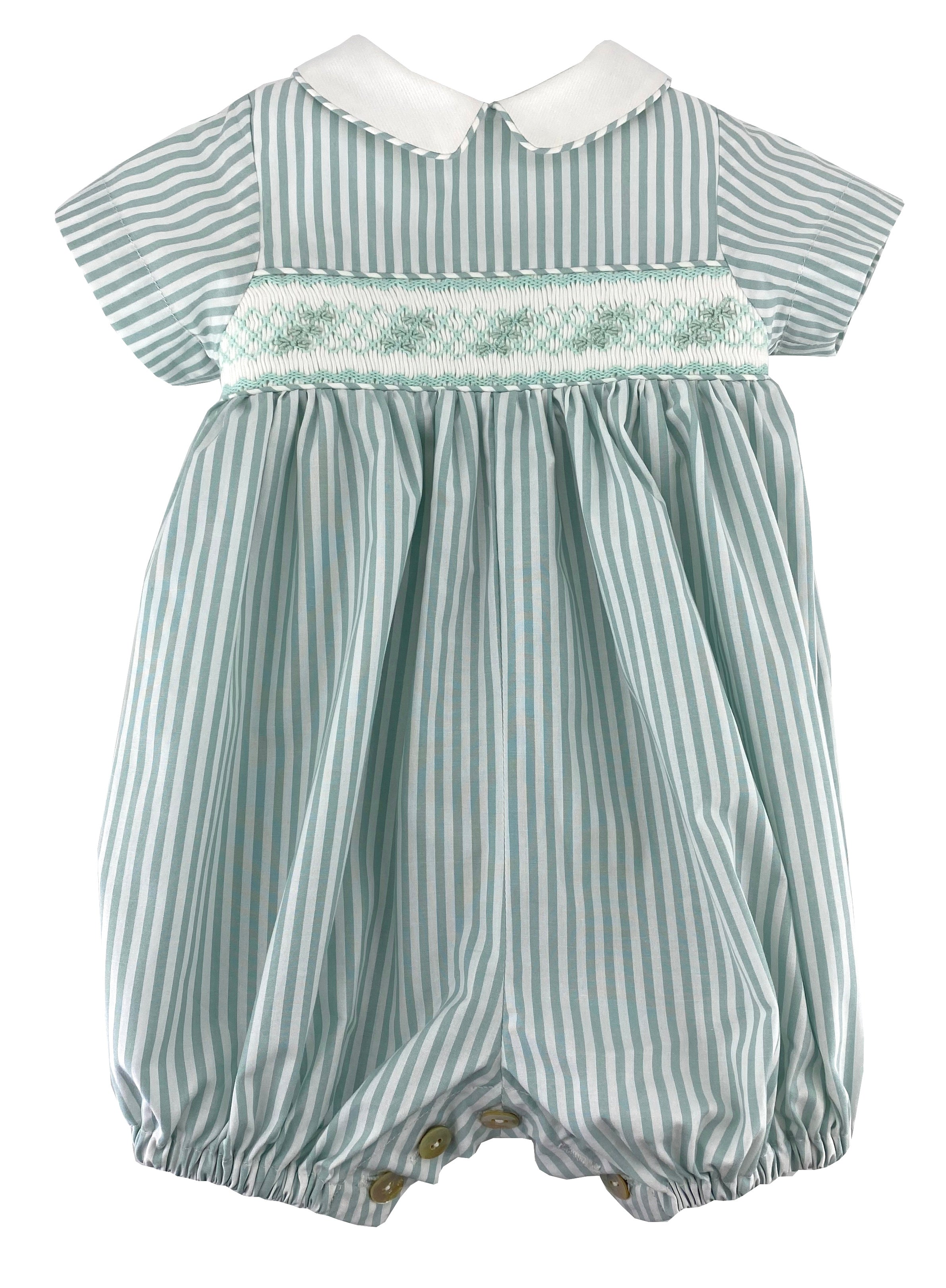 Baby boy smocked bubble