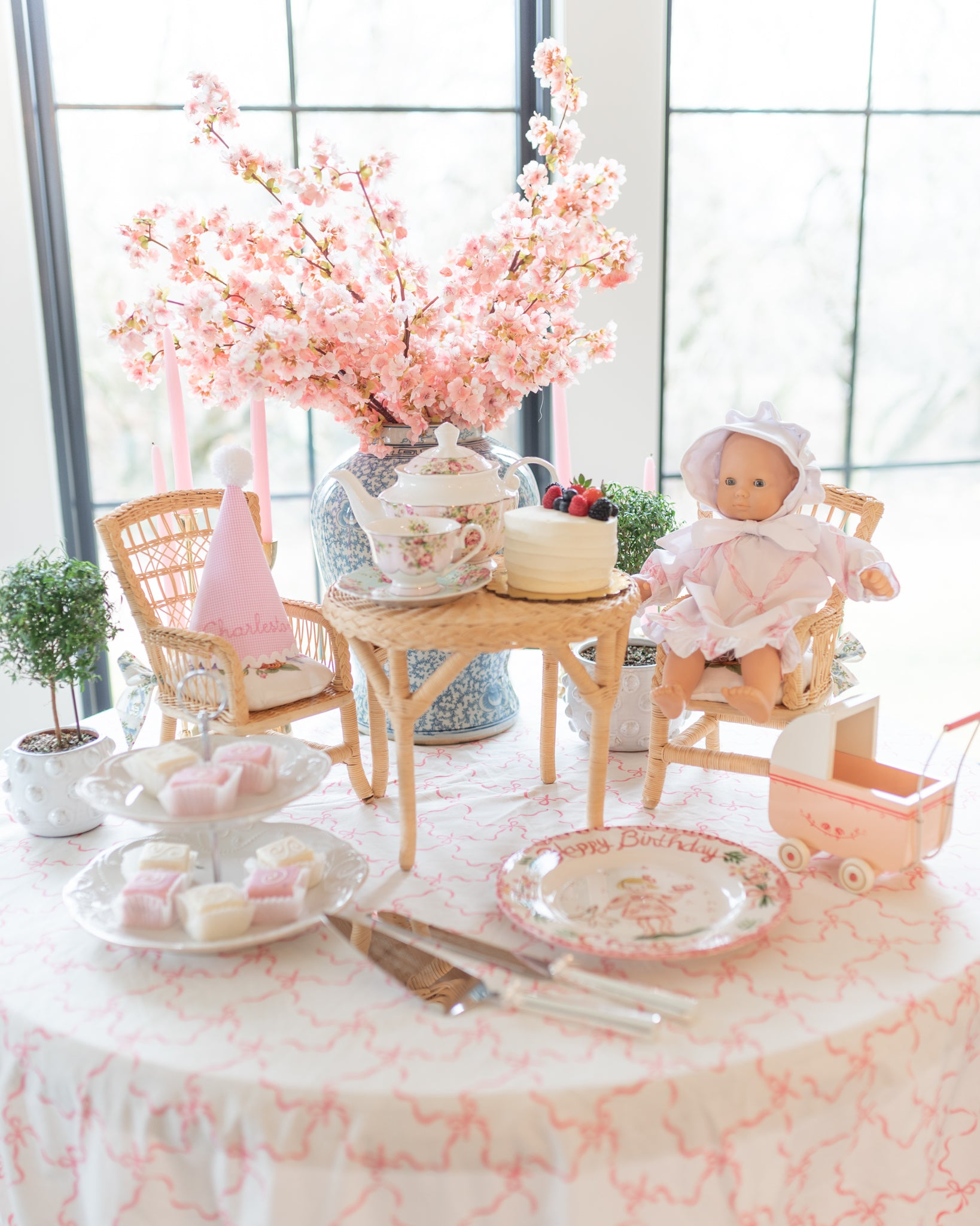 Tea party children's birthday inspiration - The Brooke Brooke Charlotte sy Dimby