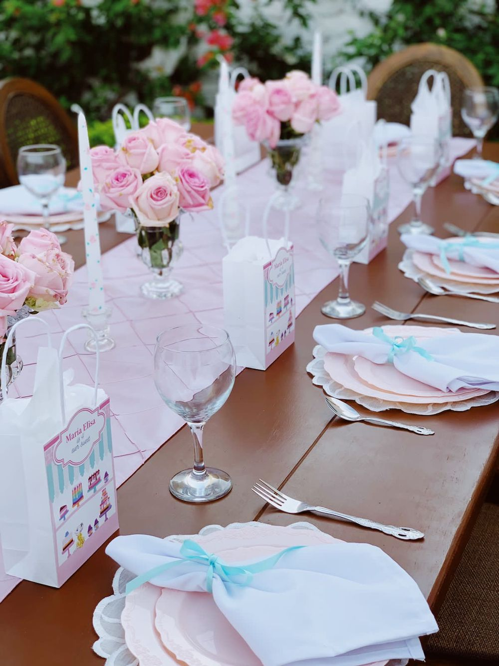 Charlotte sy Dimby dress and Claris the mouse in Paris children's party inspiration tablescape