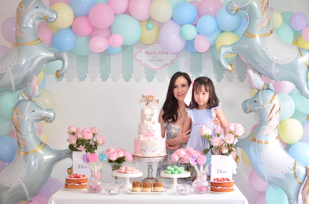 Charlotte sy Dimby dress and Claris the mouse in Paris children's party inspiration