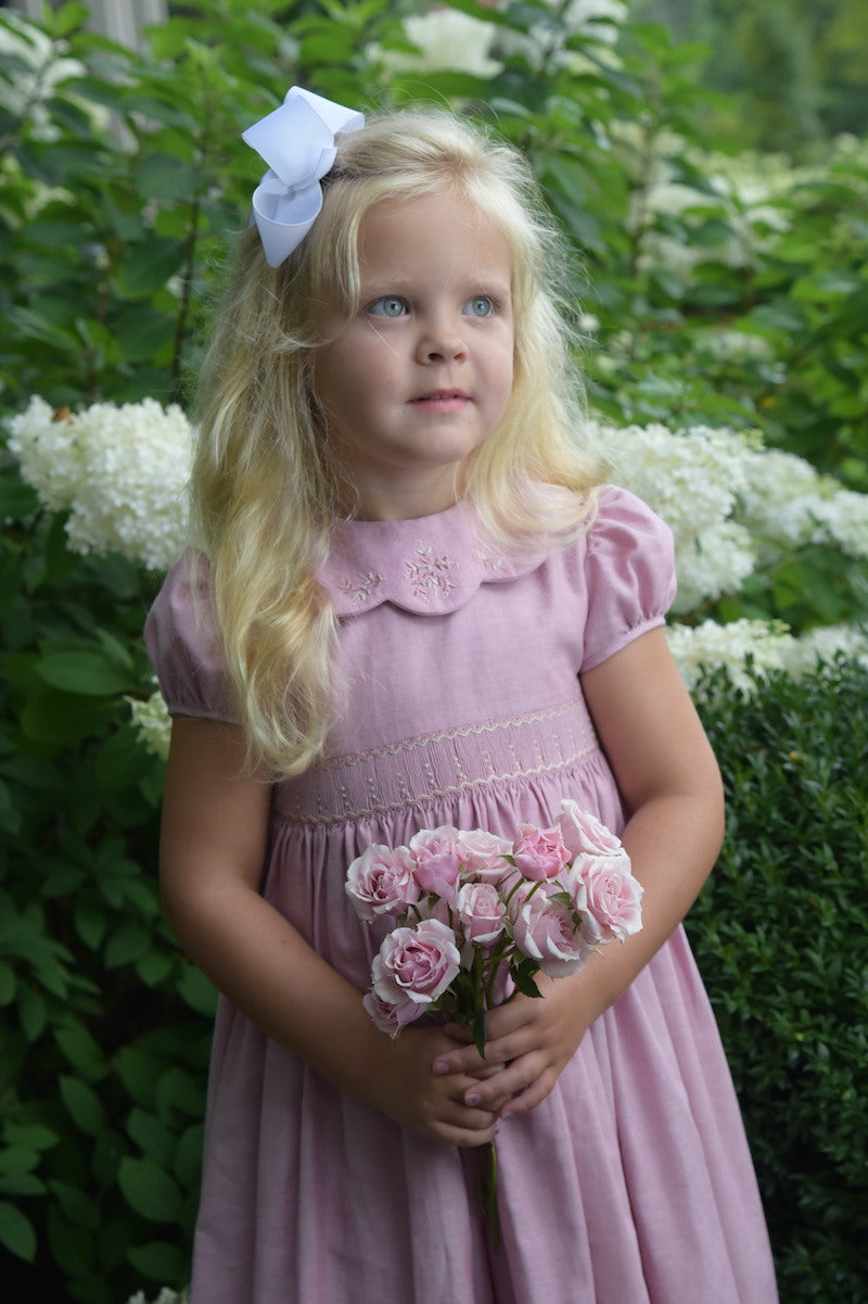 Charlotte sy Dimby pink smocked dress