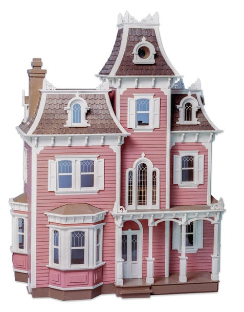 Beacon Hill pink wooden dollhouse for children