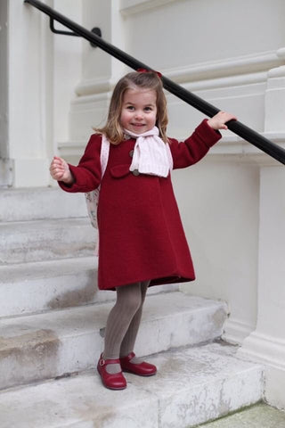 High quality classic chic children's coat princess charlotte royal family
