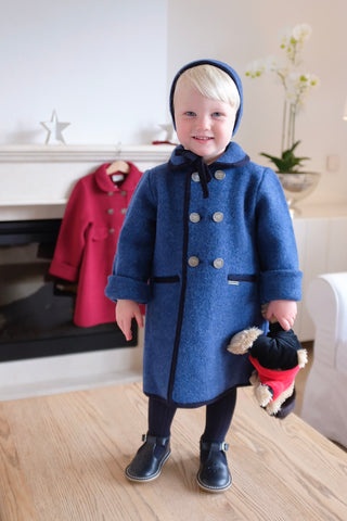 High quality classic chic children's coat