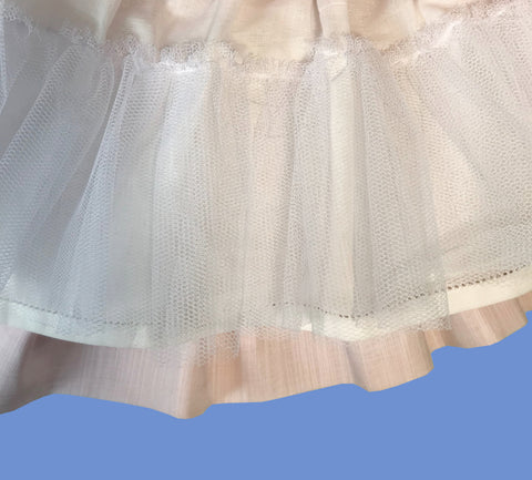Tulle lining - handmade smocked dress