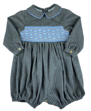Baby boy classic chic pinstripes winter bubble Charlotte sy Dimby