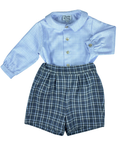 Baby biy chic winter outfit  - classic children's clothing  - Charlotte sy Dimby - Born on Fifth - Bows & Blue -  Emily Hertz