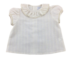 handmade baby blouse gold summer classic chic french style charlotte sy dimby
