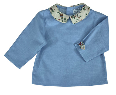classic chic blue baby boy shirt