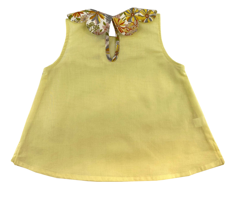 handmade-girl-summer-top-petal-collar-yellow-exotic-floral-print-sleeveless-classic