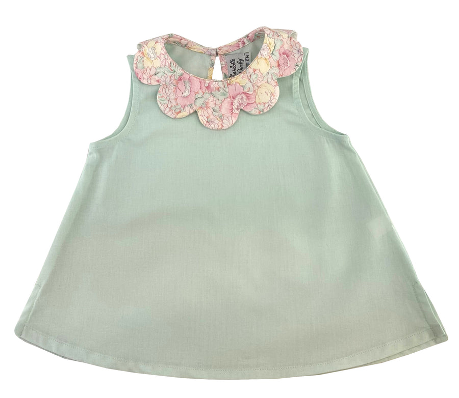 handmade-girl-summer-top-petal-collar-turquoise-green-floral-print-sleeveless-classic