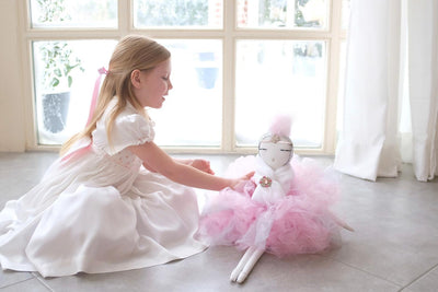 White satin heirloom smocked dress for children's portrait - A timeless traditional style for babies and girls by Charlotte sy Dimby