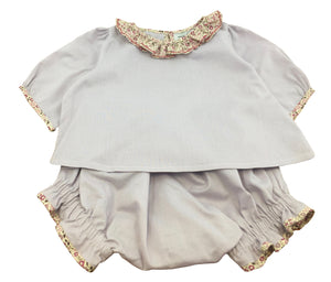 handmade liberty outfit lilac baby girl spring summer outfit charlotte sy dimby timeless classic chic quality