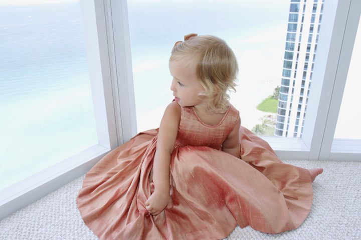 handmade-smocked-dress-summer-girl-bronze-silk-party-ceremony-birthday-classic-chic-french-style-charlotte-sy-dimby