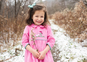 charlottesydimby-handmade-classic-chic-fall-winterdress-dress-girl-childwear-velvet-pink-goose-embroidery