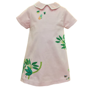 jungle dress pink embroidery limited edition gaia stella handmade charlotte sy dimby