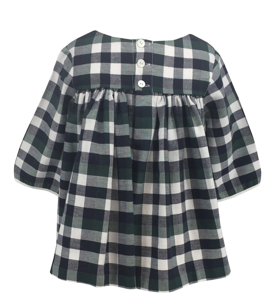 girl-top-smocks-blouse-checked-green-tartan-winter-charlottesydimby-frenchstyle-classic-chic