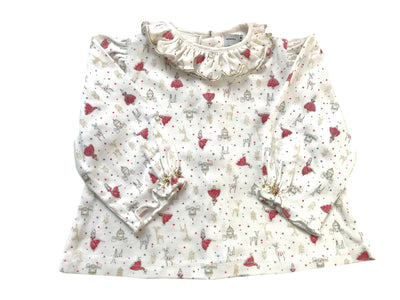 first christmas baby blouse by Charlotte sy Dimby, a classic timeless style for babies