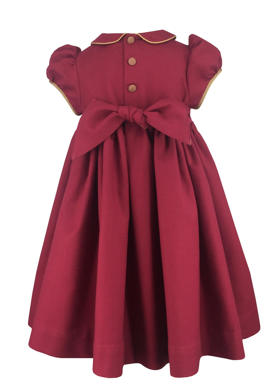 charlottesydimby-frenchstyle-handmade-classic-chic-fall-winter-smocked-cerise-dress-christmas-re-gold-baby-girl-childwear