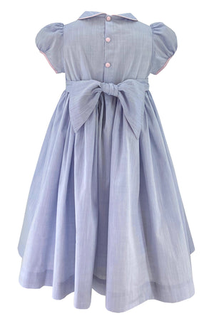 Charlotte sy dimby handmade smocked dress spring summer frenchstyle classic chic blue