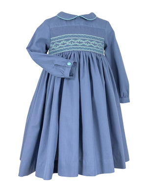 BELIZE BLUE CERISE SMOCKED DRESS