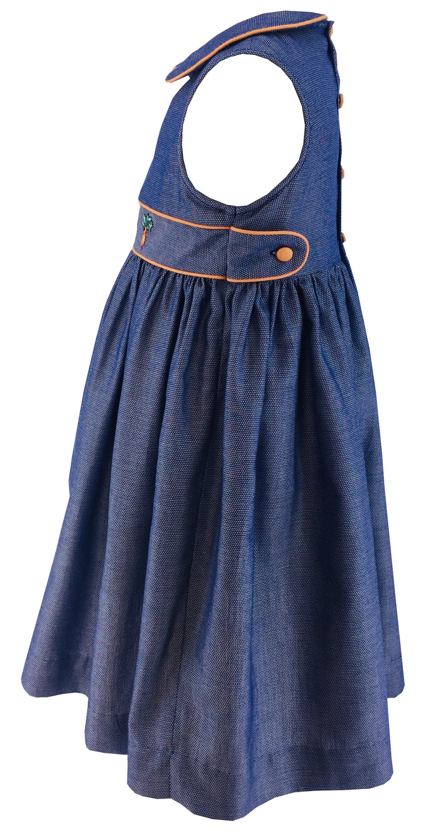 charlotte sy dimby sleeveless blue dress with gardening embroideries spring summer collection