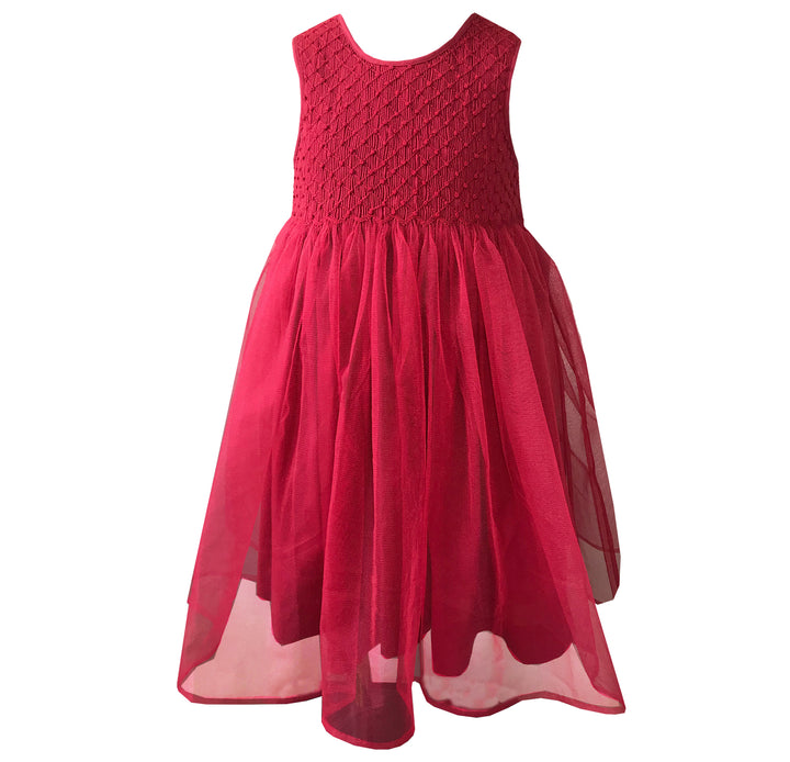 handmade raspberry tulle party dress girl baby birthday party summer red charlotte sy dimby princess classic chic frenchstyle