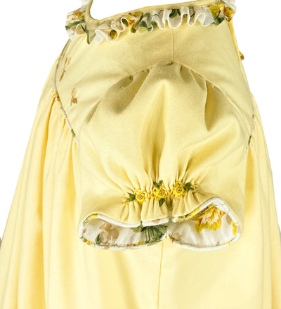 Yellow spring summer easter classic chic French style dress for children