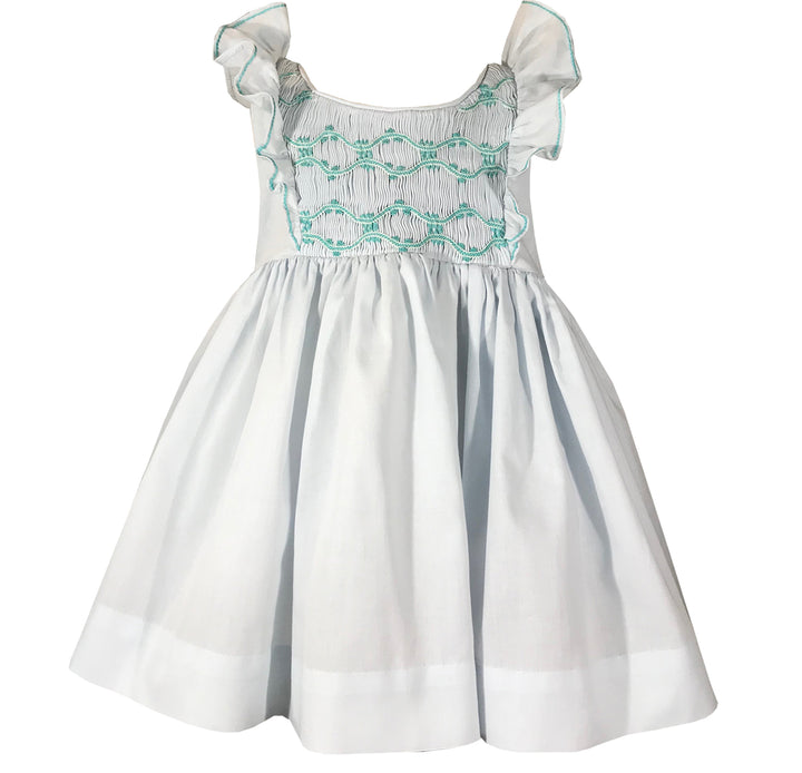 handmade-smocked-dress-ruffle-light-blue-baby-girl-paris-summer-classic-chic-birthday-party-charlotte sy dimby-french style