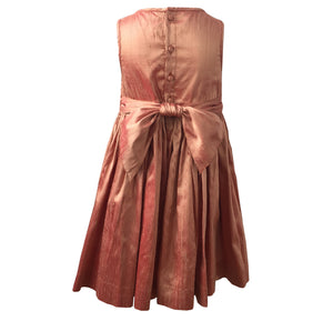 BRONZE SILK JARDIN DRESS - ALICIA SMOCKS