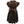 CHOCOLATE BROWN VELVET CERISE DRESS - PERLIN SMOCKS