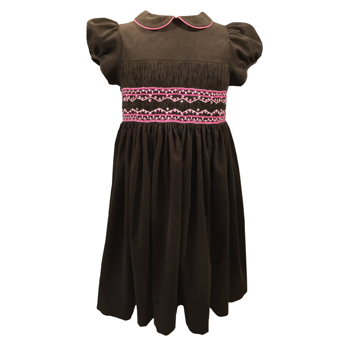 handmade smocked dress charlotte sy dimby french classic chic timeless style portrait brown velvet