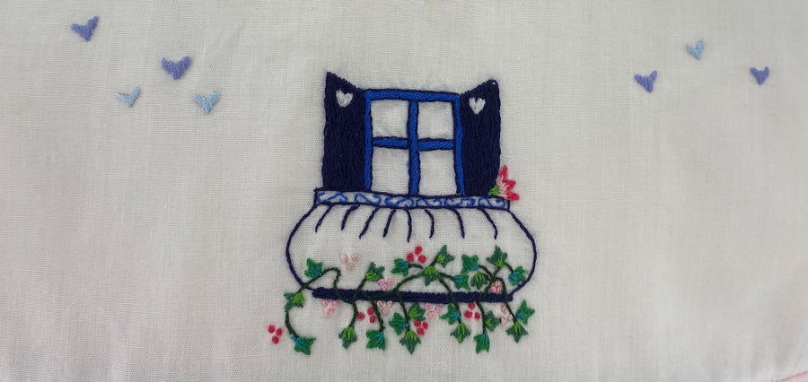 matching outfit blue print embroidered guilia dress window charlotte sy dimby baby girl handmade