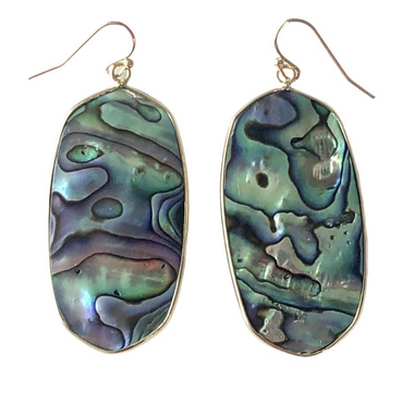 Abalone Shell Geometric Earrings