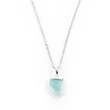 Load image into Gallery viewer, Amazonite Claw Necklace in White Gold