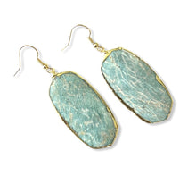 Load image into Gallery viewer, Amazonite Geometric Earrings