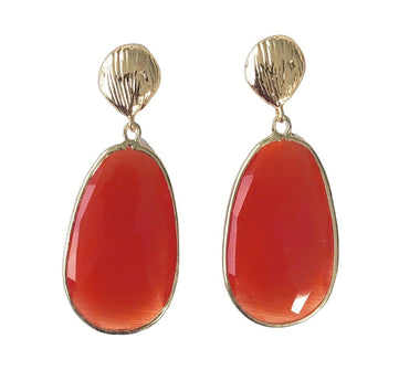 Orange Catseye Earrings