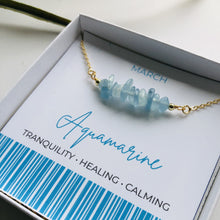 Load image into Gallery viewer, Aquamarine - March Birthstone Necklace
