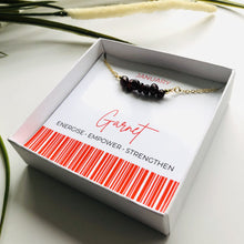 Load image into Gallery viewer, Garnet - January Birthstone Necklace