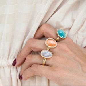 White Catseye Ring