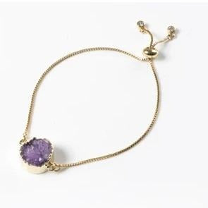 Purple Druzy Bracelet Small