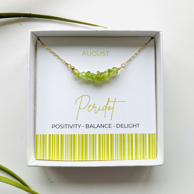 Peridot - August Birthstone Necklace
